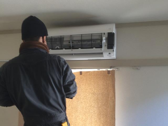 【東京都あきる野市】家庭用エアコン移設工事
