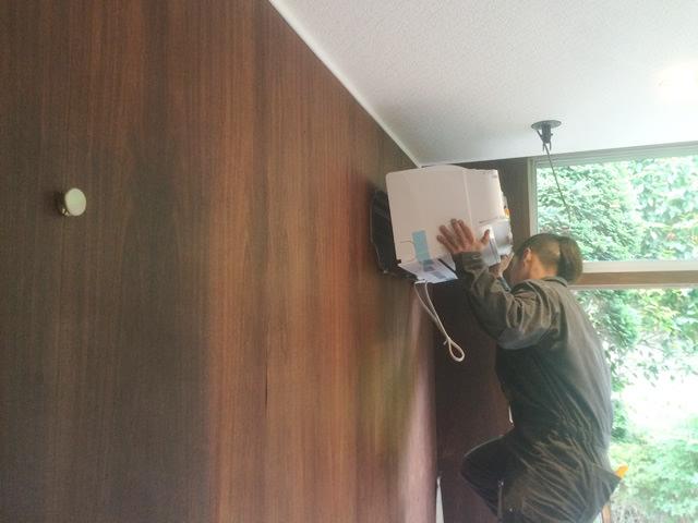 【神奈川県川崎市】家庭用エアコン移設工事