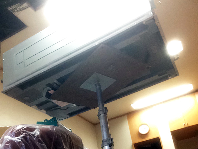 【東京都あきる野市】理容室 業務用エアコン交換工事