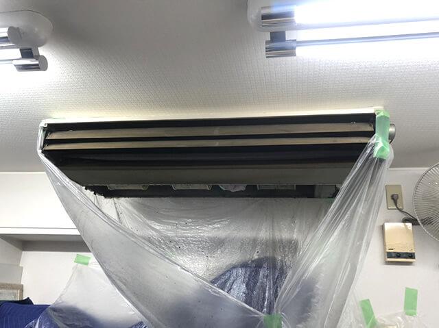 【東京都八王子市】事務所 業務用・家庭用エアコンクリーニング