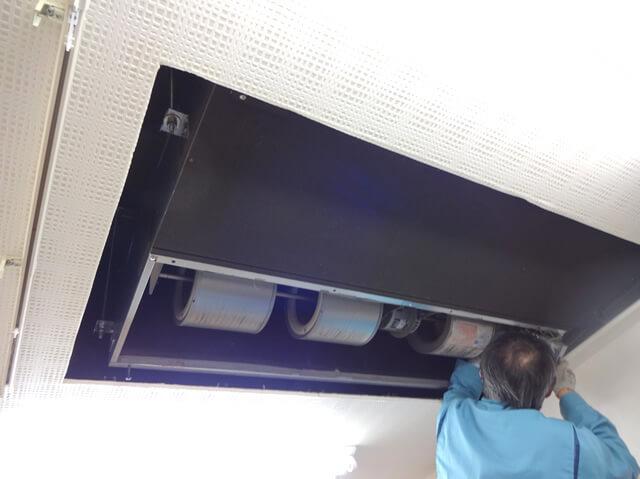 【東京都羽村市】動物病院 業務用エアコンクリーニング
