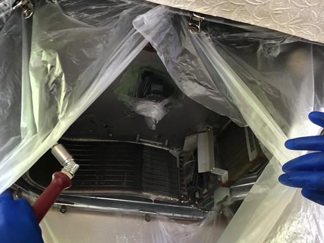 【東京都あきる野市】生花店 業務用エアコンクリーニング